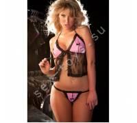 Бэби-долл с трусиками розово-черный COCO 17-3601 OS