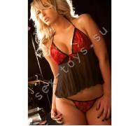 Бэби-долл с красным лифом LACE DREAM 17-1557XO