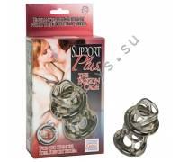 Кольцо PASSION CAGE с металлическими полукольцами SE-1465-20-3