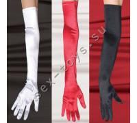 Перчатки атласные черные 1705blackOSCQ