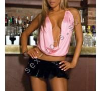 Стильный розовый топ из коллекции CLUB WEAR CL106-PNK