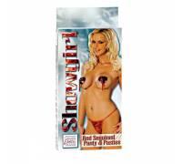 Комплект из трусиков и пэстисов (красный) Showgirl Red Seq Pty&Psty 4071-11BXSE