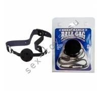 Кляп на кожаном ремне Ball Gag 7813-01BXDJ