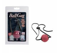 Кляп на ремешках Ball Gag-Red 2740-00CDSE