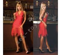 Яркое красное клубное платье CL085-RED