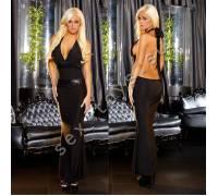 """Вечернее черное платье """"в пол"""" с открытой спиной от Hustler GOWN4-S/M"""