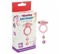 Виброкольцо с 2 утежеляющими шариками розовое Ball Banger Cock Ring 32005-pinkHW