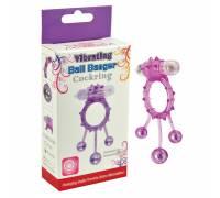 Виброкольцо с 3 утежеляющими шариками фиолетовое Ball Banger Cock Ring 32006-purpleHW