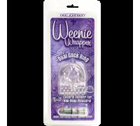 Кольцо эрекционное с вибрацией прозрачное Weenie Wrapper 0856-02CDDJ