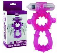 Виброкольцо розовое Beefcake Dual Rings Vibe 32011-pinkHW