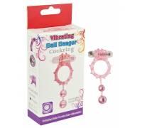 Виброкольцо с 2 утежеляющими шариками фиолетовое Ball Banger Cock Ring 32005-purpleHW