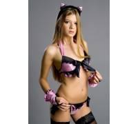 """Костюм """"Pretty Kitty"""" черно-розовый размер 46-48 2580-46-48"""