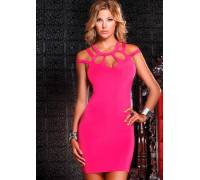 Kоктейльное платье DRESS WITH CUTOUT CHEST PINK M 882673-PINK-M