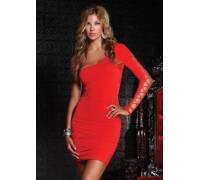 Платье c открытым плечем ONE SHOULDER DRESS RED L 882536-RED-L