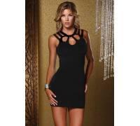 Платье с асимметричным вырезом MINI DRESS BLACK S 882503-BLACK-S