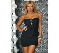 Платье без бретелек с брошью TUBE DRESS BLACK S 883303-BLACK-S