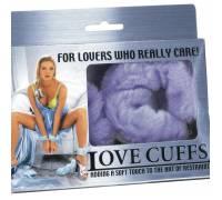 Металлические наручники с мехом Love Cuffs Purple N108PLVSNMC