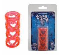Красная ажурная насадка Lover Ring 7553-02CDDJ