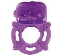 Фиолетовое эрекционное виброкольцо VIBRATING COCK RING KINKY