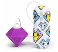 Фиолетовый клиторальный стимулятор-бриллиант SILICONE PURPLE DIAMOND CLITORAL VIBRATOR