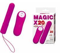 Лиловая вибропуля Magic x30