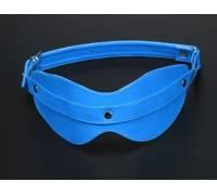 Маска на глаза из искусственной кожи голубая 5015-5