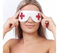 "Маска на глаза кожаная ""медсестра"" 3088-3"