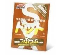 Презерватив Sagami Xtreme FEEL UP с точечной текстурой и линиями прилегания - 1 шт.