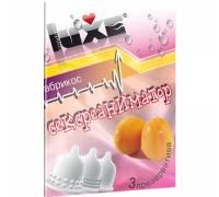 Презервативы Luxe Trio Сексреаниматор с ароматом абрикоса - 3 шт.