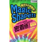 Презервативы Sagami Xtreme Magic Shape с ребристым швом - 5 шт.