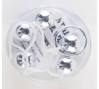 Серебристые анальные шарики