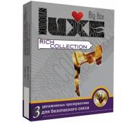 Цветные презервативы LUXE Rich collection - 3 шт.
