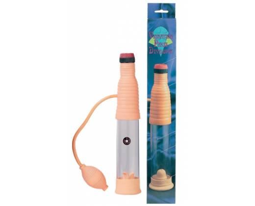 Вакуумный массажер-помпа со встроенным вибратором