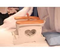 Секс-машина Пегас белого цвета с персиковыми подушками SM Pegas/white-peach