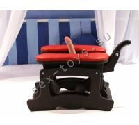 Секс-машина Пегас черного цвета с красными подушками Pegas/black-red