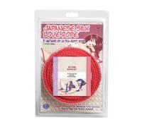 Красная веревка для фиксации Japanese Silk Love Rope - 3 м.
