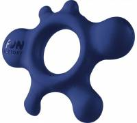 Синее эрекционное кольцо Rain
