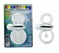 Кольцо эрекционное с вибратором и со стимуляцией мошонки