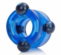 Голубое двойное эрекционное кольцо с магнитами Magnetic Power Ring