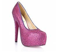 Туфли в кристаллах на шпильке Sexy Pink