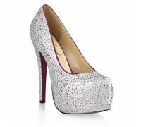 Туфли с серебристыми кристаллами Jewerly