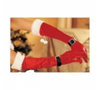 Перчатки бархатные новогодние