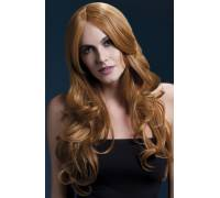 Рыжий парик с длинной челкой Khloe