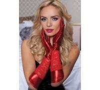 Комбинированные перчатки до локтя