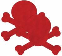 Красные пестис на грудь в форме черепов