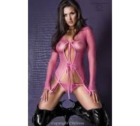 Сексуальный комплект белья в мелкую сеточку Pink Pleasure