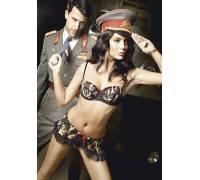 Костюм сексапильного сержанта: топ и мини-юбка