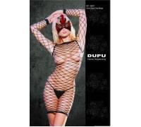 Платье-сетка с длинными рукавами Dupu