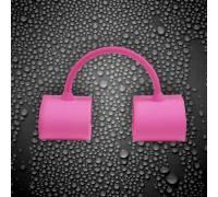 Розовые силиконовые фиксаторы для ног Silicone Submissions Ankle Cuffs