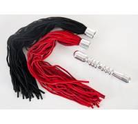 Ребристая анальная втулка с двумя сменными плетками